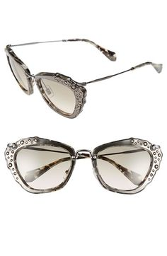 28f765d31c62 Free shipping and returns on Miu Miu 55mm Sunglasses at Nordstrom.com.  Taking the
