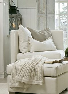 house. home. white. perfect for time with book
