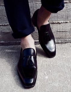 e0d79010c4d Black Leather Loafers Loafers Men
