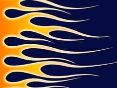 Flames on Navy Blue