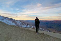 Sunset on Csrdrona Mountain ski field NZ