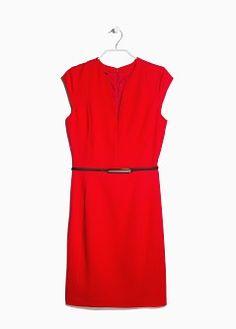 Skinny belt dress