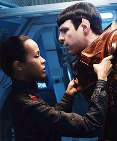 Spock and Uhura.