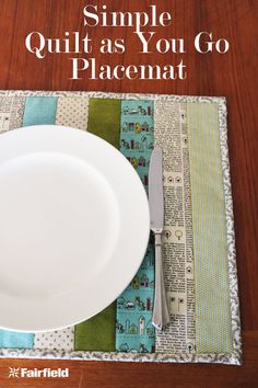 Easy Fast Functional Quilt As You Go QAYG Placemats for Beginners or Experienced Quilters