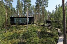 Cabins And Cottages: Lakeside House / NOW for Architecture and Urbanism. Nature Architecture, Architecture Company, Installation Architecture, Building Architecture, Tyni House, Pole House, Cabins And Cottages, Cabins In The Woods, Black House