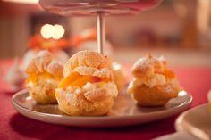 Aprikosen-Pudding-Windbeutel