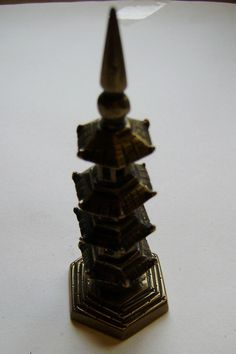 vintage small  Brass Asian/ Oriental Antiques Chinese  Buddhist  Temple