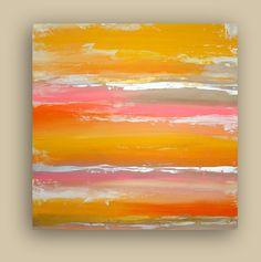 "ART ABSTRACT ACRYLIC Titled: Summertime Fun Original Ora Birenbaum Acrylic Abstract Fine Art Painting 30x30x1.5"". $275.00, via Etsy."