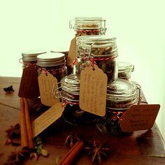 Presentes de Natal caseiros: misturas de chá