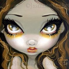 Fairy Face 18 Jasmine Becket Griffith Gothic Beauty Faery Signed 6x6 Print | eBay