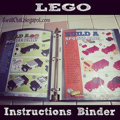 LEGO instructions binder