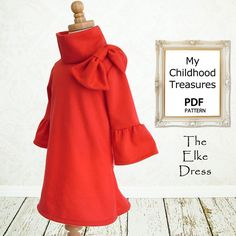 Childrens sewing pattern, PDF, Girls dress pattern, Baby sewing pattern, Instant Download, The Elke Dress