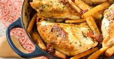Chicken Breasts Braised with Hard Cider and Parsnips