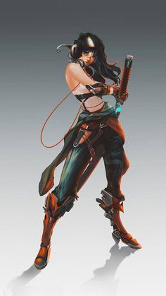 Female Character Design, Character Creation, Character Design References, Character Design Inspiration, Game Character, Character Concept, Concept Art, Cyberpunk Art, Cyberpunk Character