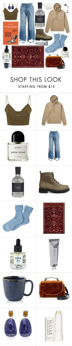 """E.J."" by emma-june-sawyer ❤ liked on Polyvore featuring Acne Studios, DL1961 Premium Denim, Pure Collection, Art Carpet, Uma Oils, Bloomingville, Juliska, Maje, Therapy and Hoodies"