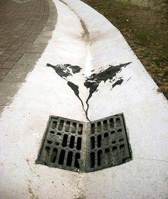 Street Art créatif et détournements urbains par Pejac !
