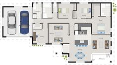 'Christie' House Design  3 bedrooms, 2 bathrooms, study, media room, pantry - All you need!   G.J. Gardner Homes