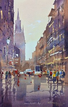 Iain Stewart Watercolors    Home after a great workshop in New Orleans... Last demo Chartes St. The Quarter