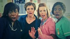 Niamh McGrady ‏@NiamhMcGrady via Twitter SHOCK! HOT #holby LADIES!!! @chizzyakudolu @catherinerusse2 @PetraLetang We so good fo that...