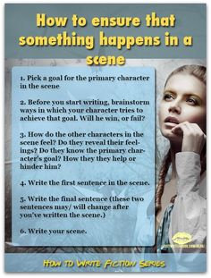 How to Write Scenes in Novels and Short Stories -- Writing a novel? Focus on scenes. Scenes in a novel are the heart of your novel. When you know how to write scenes, you'll write better books. by MyohoDane Writing Quotes, Fiction Writing, Writing Advice, Writing Resources, Start Writing, Writing Help, Writing Skills, Writing A Book, Short Story Writing