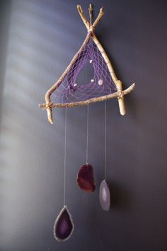 Celestial dream catcher. #Dreamcatcher #HandmadeDreamCatcher #HandmadeArt #TriangularDreamCatcher
