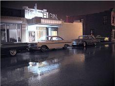 El artista Michael Paul Smith ha creado una serie de fotografías hiperrealistas gracias a unas increíbles maquetas hechas por él mismo.  Las imágenes nos transportan a cuando Michael era niño y vivia en una pequeña ciudad americana de los años 50.