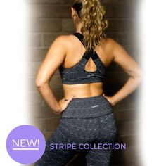 New Collection!! LaSculpte Stripe Sports Bra and High Waist Shaping Tight are must for winter #workouts. The 4-way stretch fabric is moisture wicking, quick drying & breathable which provides you maximum support. Shop now at -- https://www.lasculpte.com.au/new-arrivals/