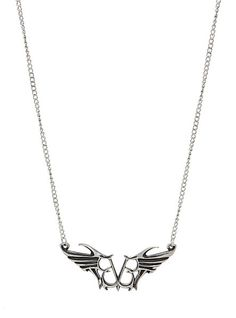 Black Veil Brides Logo Necklace | Hot Topic I want this. A lot. Like I almost screamed when I saw this pin. .-.