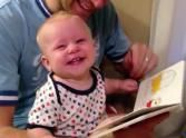 This Silly Baby's Reaction to a Book Will Keep You Smiling. He is So Funny!  (Oh that all kids would enjoy books that much!!