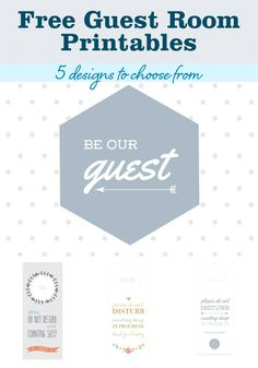Make a Guest Room Welcome Basket (With 5 FREE Printables) from MomAdvice.com.