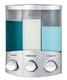 Love this Satin Silver Trio Euro Dispenser on #zulily! #zulilyfinds