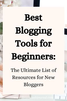 Blogging recommendations, tools and resources for new bloggers. Start a blog with the best blog tools and blog products minus the guess work! Learn what I personally use and can recommend for beginner bloggers. #bloggingforbeginners #blogging #startablog #blogtips