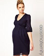 ASOS Maternity Tulip Dress With Ruching