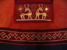 Viking Garb, Viking Reenactment, Viking Dress, Viking Costume, Medieval Costume, Medieval Embroidery, Embroidery Applique, Embroidery Stitches, Embroidery Patterns