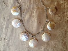 Snowball Fight: Handmade Necklace Featuring White Resin Beads by ReprievesCorner on Etsy