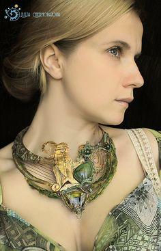 """Купить """"Tuatha De Danann"""" этно-колье и браслет - этническое украшение, древний, натуральные камни"""