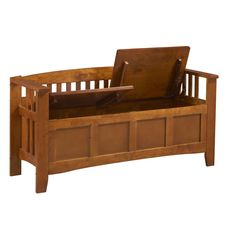 Short Back Split Seat Storage Bench