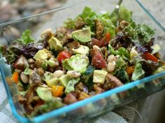 Avocado-White Bean Salad with Lemon-Thyme Chia Dressing