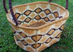 Small sz. Macrame Basket RopeHandmade in by CraftingMode on Etsy, ฿750.00
