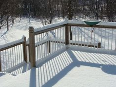 Winter is officially here! Keep your deck in tip-top shape with winter with these tips from Fiberon Composite Decking. Pvc Decking, Decking Material, Composite Decking, Deck Maintenance, Vinyl Deck, Cool Deck, Covered Decks, Snow And Ice, Outdoor Living