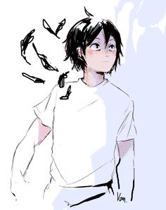 Find images and videos about anime, haikyuu and yamaguchi+tadashi+ on We Heart It - the app to get lost in what you love. Kagehina, Kenma, Hinata, Haikyuu Fanart, Haikyuu Anime, Haikyuu Ships, Fanarts Anime, Anime Characters, Tsukiyama Haikyuu