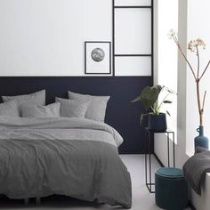 Damai Illusion - Seersucker dekbedovertrek - 240 x cm - Lits-jumeaux - Stone blue Indigo Blue, Illusions, Bedroom Decor, Bedroom Bed, Bed Room, Comforters, Blanket, Interior Design, Brown