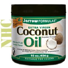 Extra Virgin Coconut Oil, 16 Oz, Jarrow Formulas - use coconut oil instead of vegetable shortening (Crisco) for healthier baking