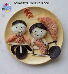 Food Art: Chinese lady in Trishaw Onigiri | Bento Days