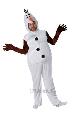 Get ready to do whatever frozen things do in Summer with our Adult Frozen Olaf Costume. Recreate the enchanted snowman's look from the 2013 hit Disney film ''Frozen''.