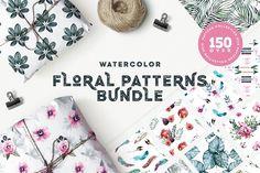 Floral Patterns Bundle 90% OFF by Spasibenko Art on @creativemarket
