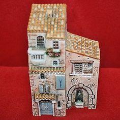 16-PC-MINIATURES-VILLAGE-BUILDINGS-J-CARLTON-DOMINIQUE-GAULT-HOUSES-FRENCH-PROV