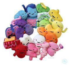 PLUSH ORGANS @ i heart guts http://iheartguts.com/collections/plush-organs/products/new-everything-plush-guts-set-22-organs