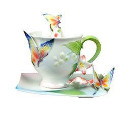 Choholete Porcelain Ceramic Tea Coffee Cup Set Elegant New Flying Butterfly 1 Cup 1 Saucer 1 Spoon Choholete http://www.amazon.com/dp/B00M40J21M/ref=cm_sw_r_pi_dp_fYkkub14G7EC3