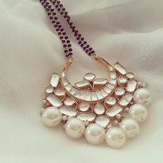 Kundan Pearl Mangalsutra (White)